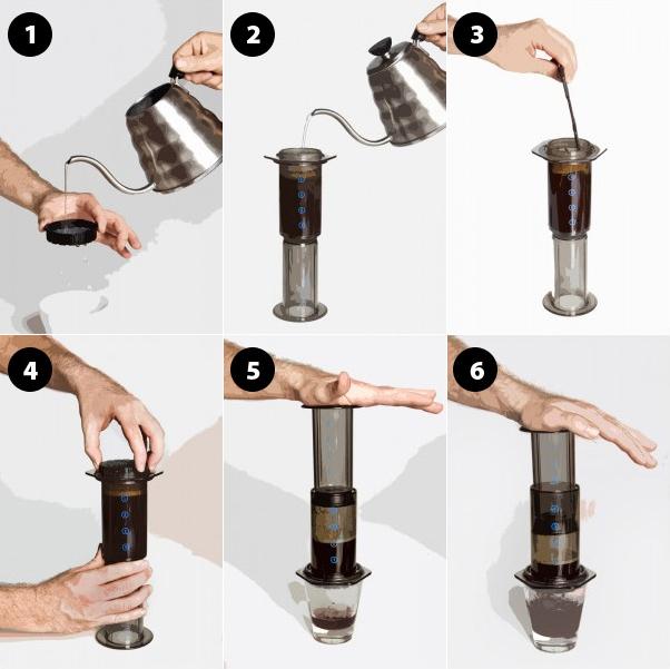 Parzenie kawy w Aeropressie metodą odwróconą