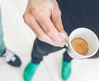 Ristretto rodzaj kawy zbliżonej smakiem do espresso