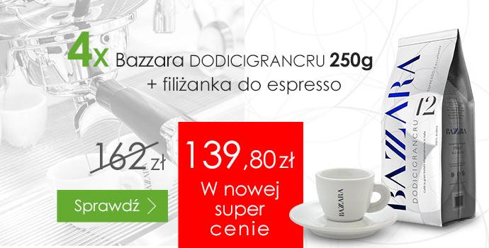 Super oferta cenowa na zestaw kaw Bazzara