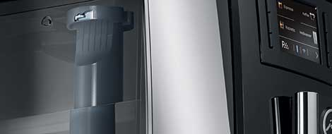 nowoczesna technologia ekspresu Jura E8 Dark Inox