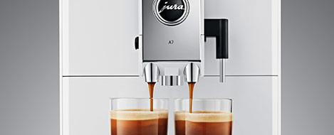 Regulowana wysokość wylewki kawy w Jura A7