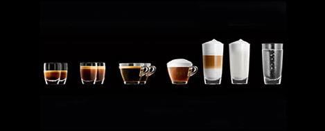 Szeroki zakres specjałów kawowych Jura A7