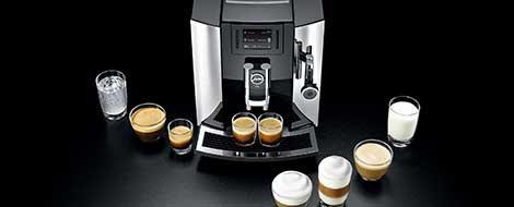 Szeroka gama specjałów kawowych w ekspresie Jura E80